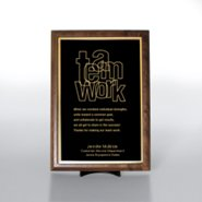 Character Award Plaque - Half-Size - Black w/ Gold